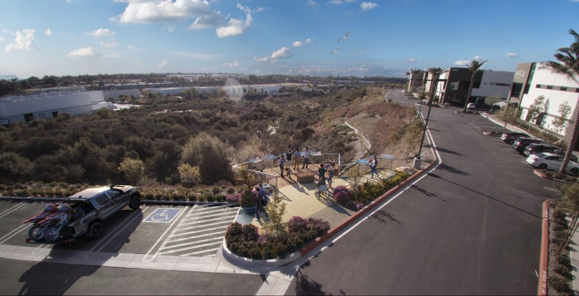 An artist's rendering shows where the Carlsbad Raceway Monument