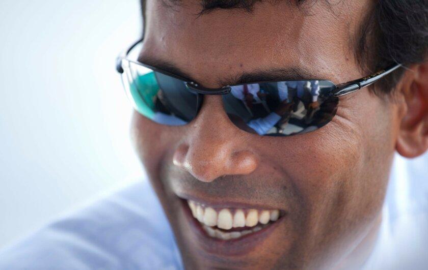 President Mohamed Nasheed of the Maldives. Lincoln Else photo