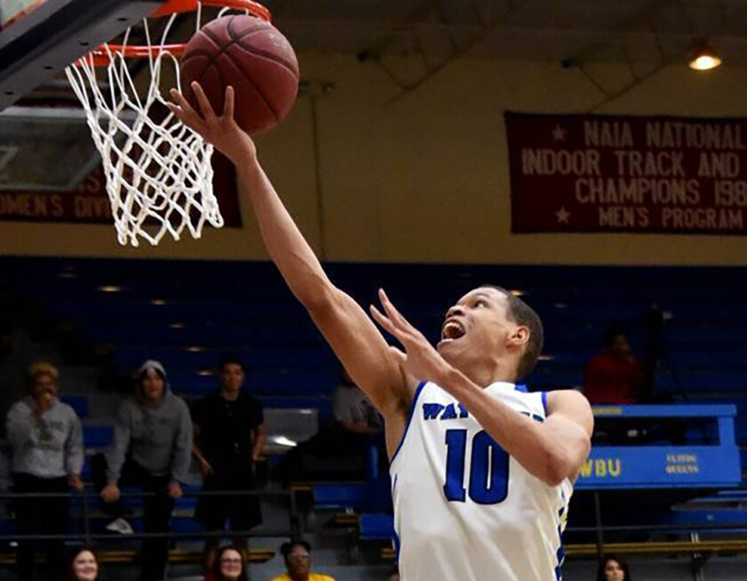 Wayland Baptist guard J.J. Culver shoots during an NAIA college basketball game against Southwestern Adventist on Dec. 10 in Plainview, Texas.