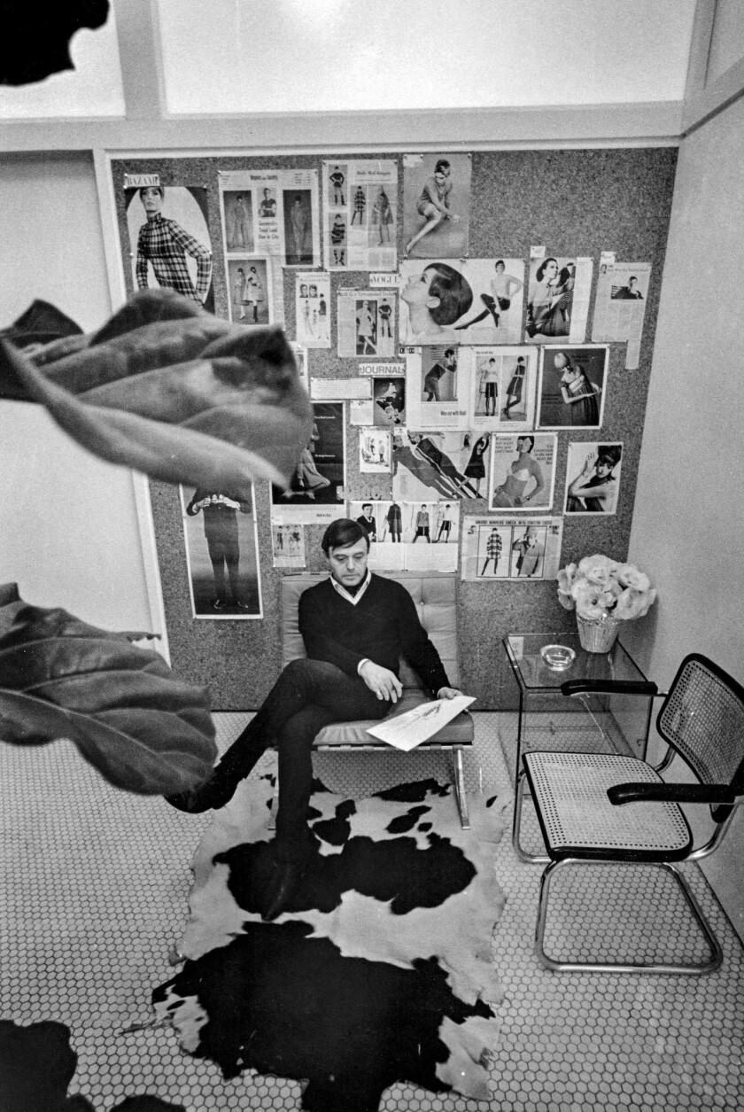 Rudi Gernreich at his office in Los Angeles, 1966. A look at designer Rudi Gernreich (1922-1985) ret