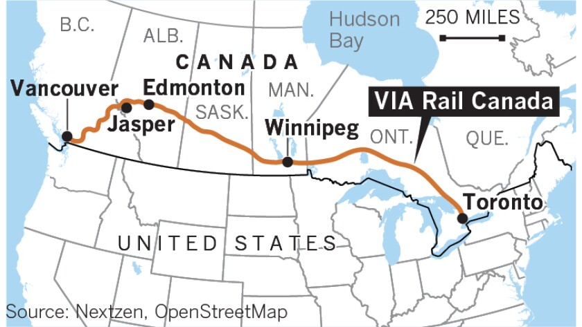 Map Of Canada Vancouver Toronto.On Canada S Via Rail A Return To The Older And Let S Be Honest