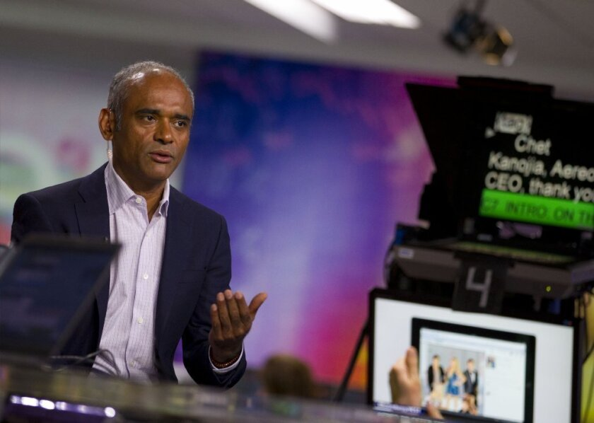 Aereo founder Chet Kanojia, pictured, said the service will appeal to people tired of shelling out hundreds of dollars for pay-TV and thus would help broadcasters from losing viewers to cord-cutting.