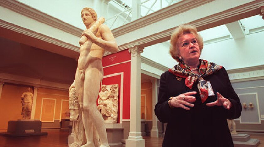 Marion True, former curator of the J. Paul Getty Museum in Los Angeles, still faces separate charges of illegally possessing at least a dozen antiquities found in a raid on her vacation home on the Aegean island of Paros last year.
