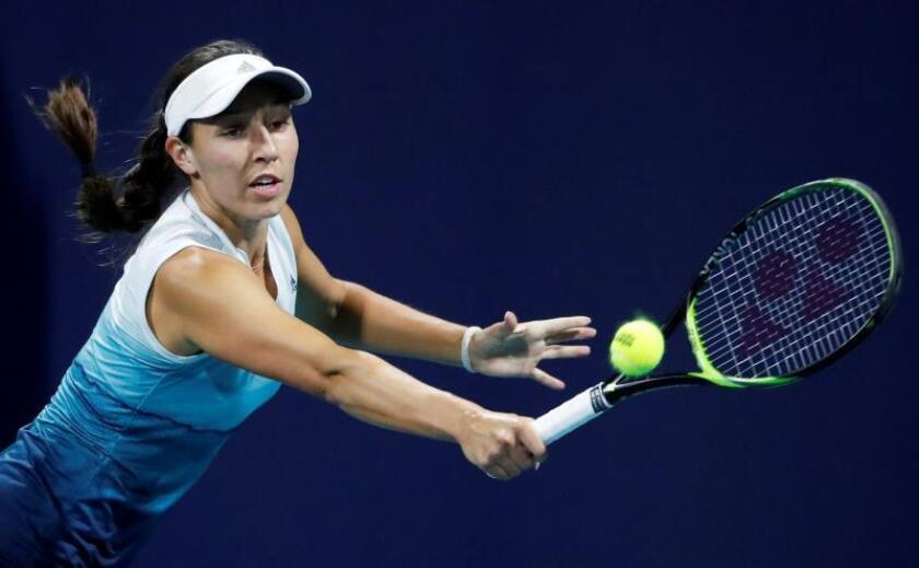 En la imagen, la tenista estadounidense Jessica Pegula. EFE/Jason Szenes/Archivo