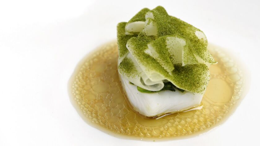 Spanish turbot with soy at Kato