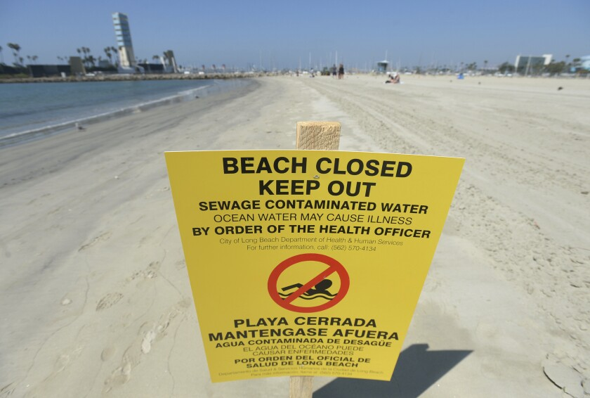 Sewage Spill Beaches Closed
