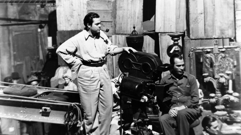 """The $1,000-per-person screening, which is a fundraiser for the festival and the Friends of Hearst Castle, will also include a VIP tour of the historical landmark and a reception. Orson Welles is pictured during the filming of """"Citizen Kane."""""""
