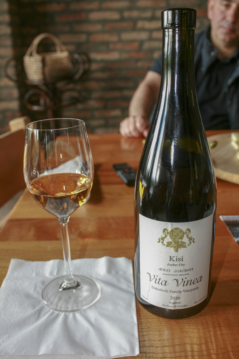 Republic of Georgia - A bottle of Kisi white wine from Vita Vinea Winery, a family winery on the out