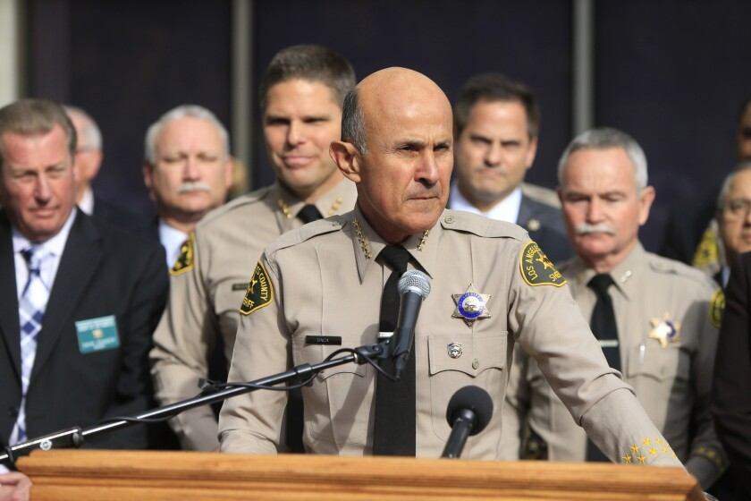 Los Angeles County Sheriff Lee Baca announces last week that he will not seek a fifth term. Costs for the Sheriff's Department rose, driven primarily by settlements and trial judgments in excessive force cases.