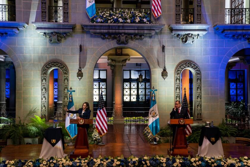 U.S. Vice President Kamala Harris and Guatemalan President Alejandro Giammattei