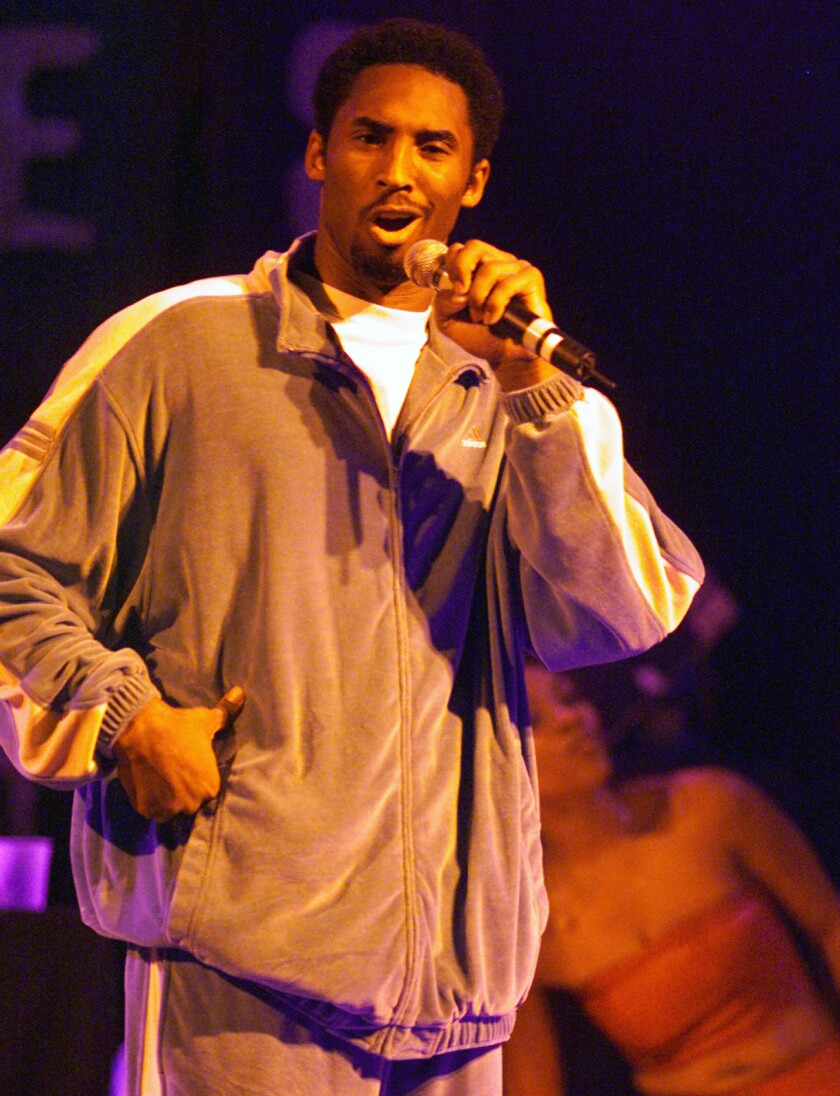 Kobe Bryant onstage at the House of Blues in West Hollywood in 2000.
