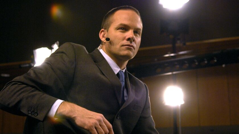 Eric Wynalda, seen in 2007 working for ESPN, left broadcasting last year and now coaches the Las Vegas Lights Football Club of the United Soccer League.