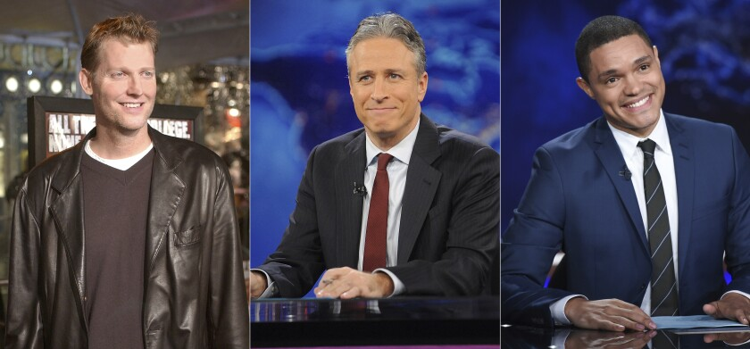 Craig Kilborn,  Jon Stewart  y Trevor Noah