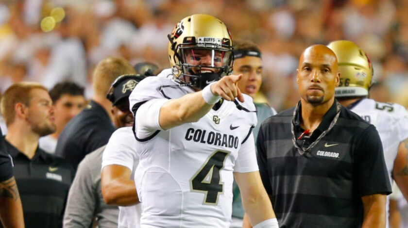 Colorado's Sam Noyer has emerged as starting quarterback, returning to the position after moving to safety a year ago.