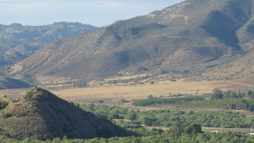 Open land at the northeast corner of I-15 and Route 76 where nearly 2,000 homes will be built.