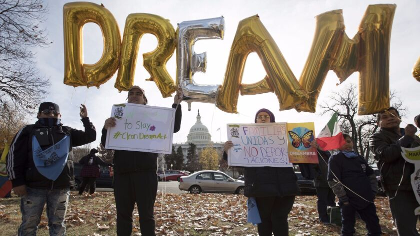 People rally to support passage of a clean DREAM Act, Washington, USA - 06 Dec 2017