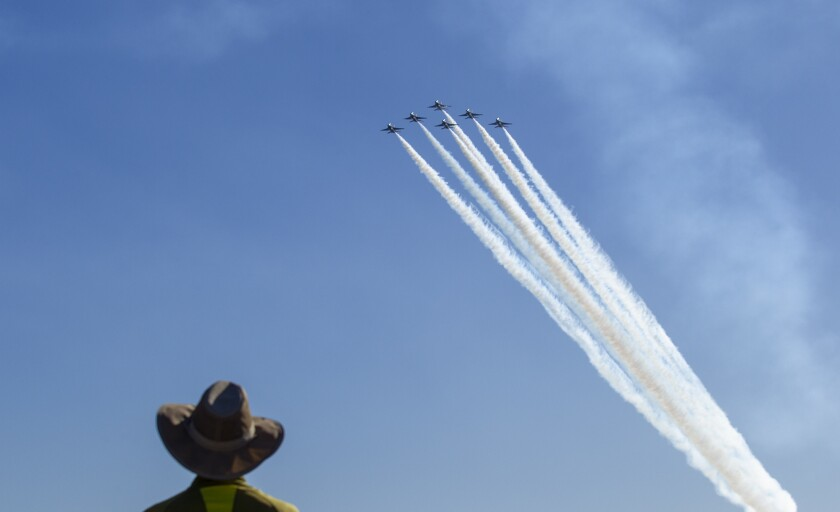 Three jet teams will soar over Huntington Beach during Great Pacific Airshow