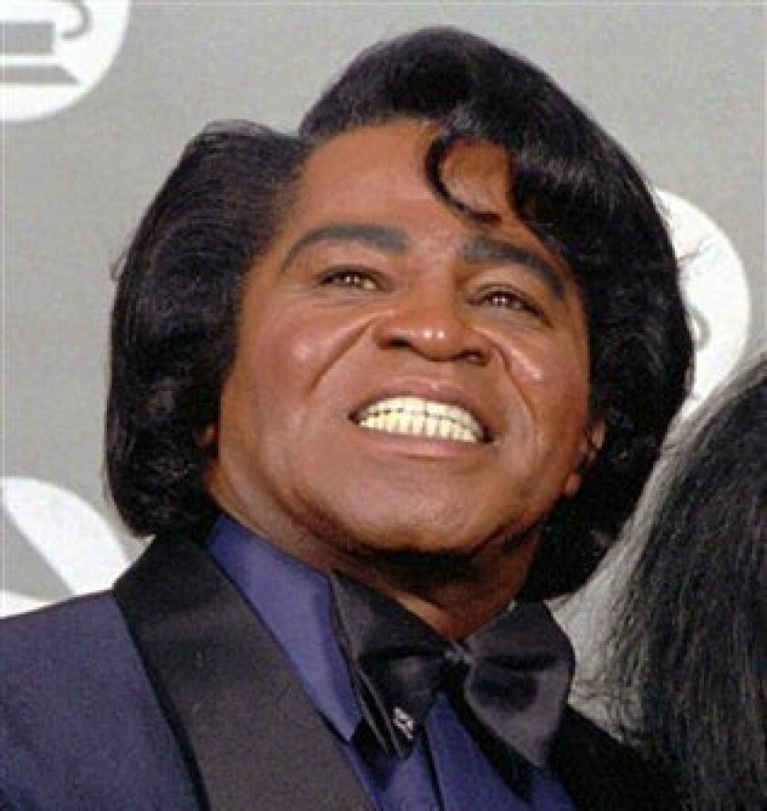 In this 1993 file photo, singer James Brown is shown at the Grammy Awards in Los Angeles.  (AP Photo/Doug Pizac, File)
