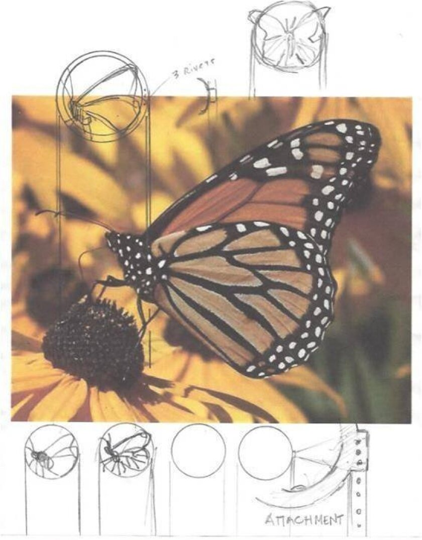 """A sketch shows """"Butterfly Path"""" in development."""