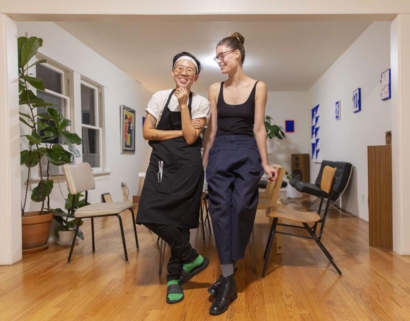 Michelle Lee and her partner, Elizabeth Hatke