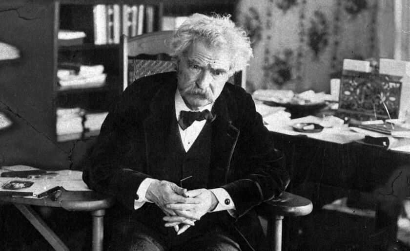 Author Samuel Clemens, known to the world as Mark Twain, is shown in this undated photo.