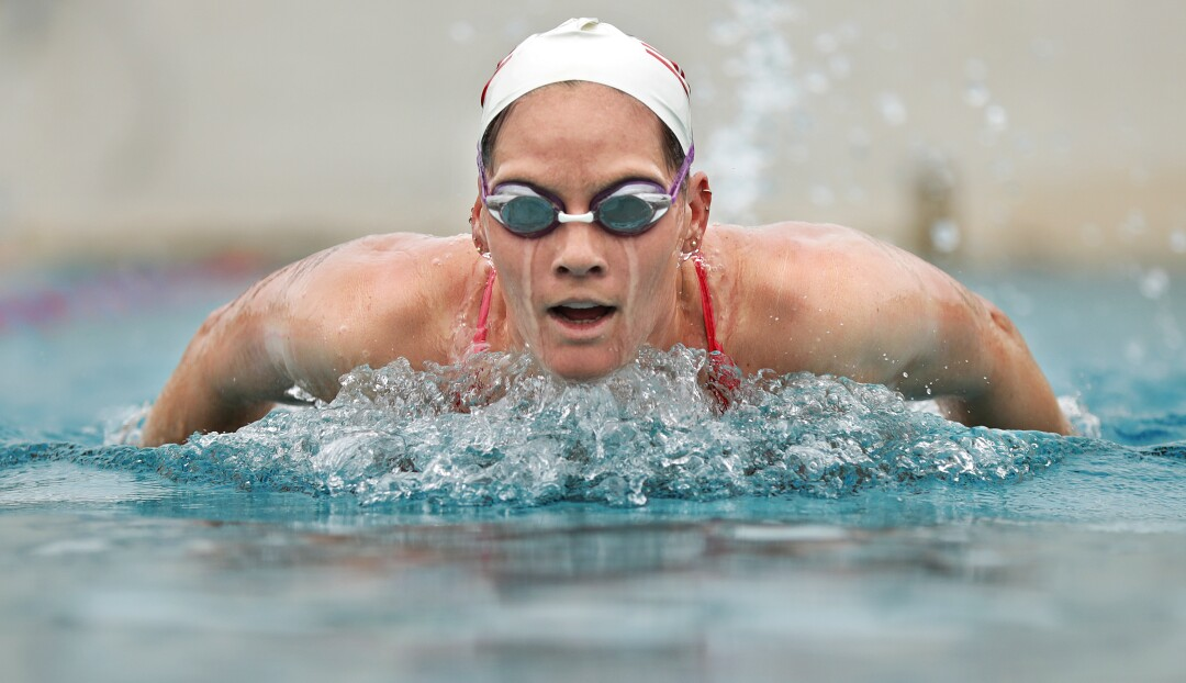 Alys Williams practices at Joint Forces Training Base in Los Alamitos.