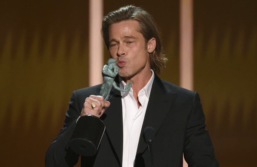 Winner Brad Pitt at the 26th Screen Actors Guild Awards.