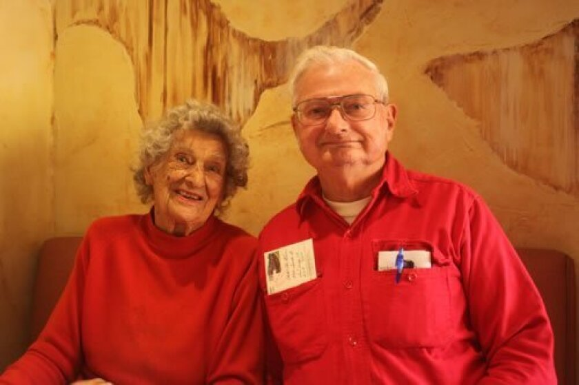 La Jollan and 104-year-old Ann Martin with her sole surviving son, Clark McEwan. Ashley Mackin