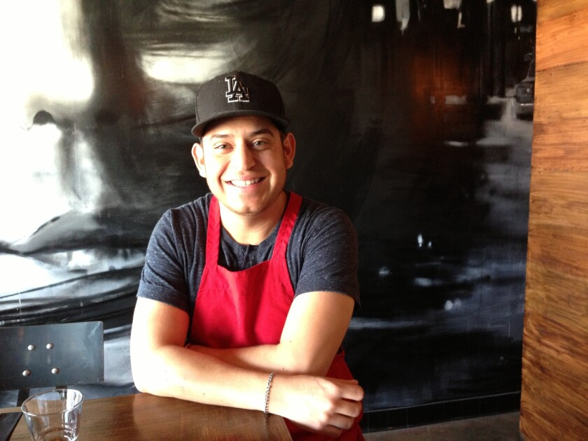 Frank Fermin, chef at South End, a new pizza and wine bar in Venice.