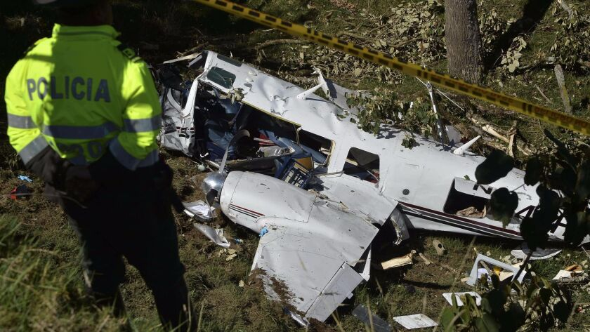 """Two people died when a plane carrying crew members for the film """"American Made,"""" starring Tom Cruise, crashed in Colombia in 2015."""