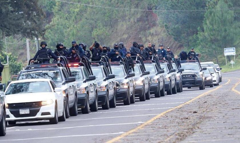 380 Agentes vigilan ciudad mexicana de Uruapan tras asesinato de 19 personas