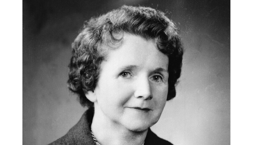 """Heroine, not """"mass murderer,"""" Rachel Carson is shown in 1962."""