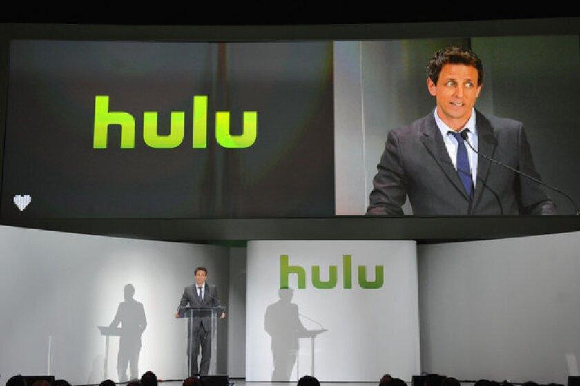 Seth Meyers at the Hulu NY Upfront in New York City.