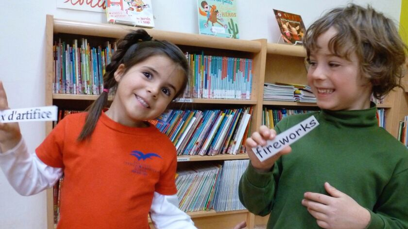 Starting in preschool, students at the independent San Diego French-American School learn in two languages.