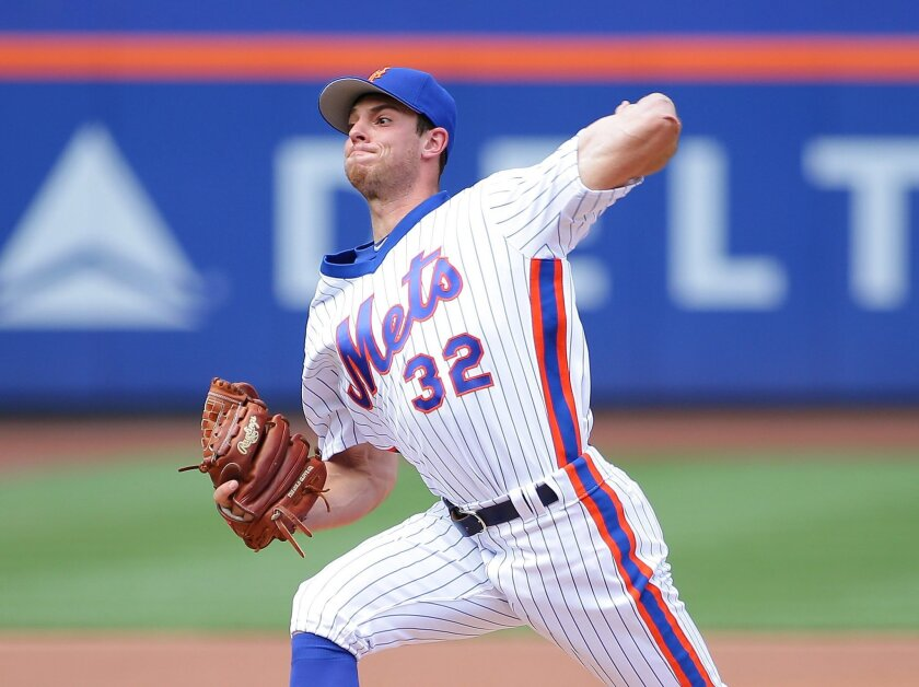 New York Mets starting pitcher Steven Matz (32) pitches against the San Diego Padres during the first inning at Citi Field. (Andy Marlin/USA TODAY Sports)