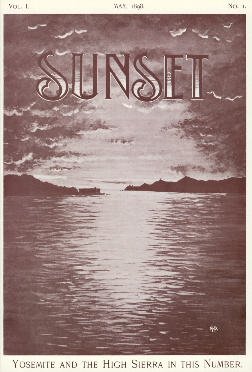 SUnset Magazine cover - first edition, May 1898