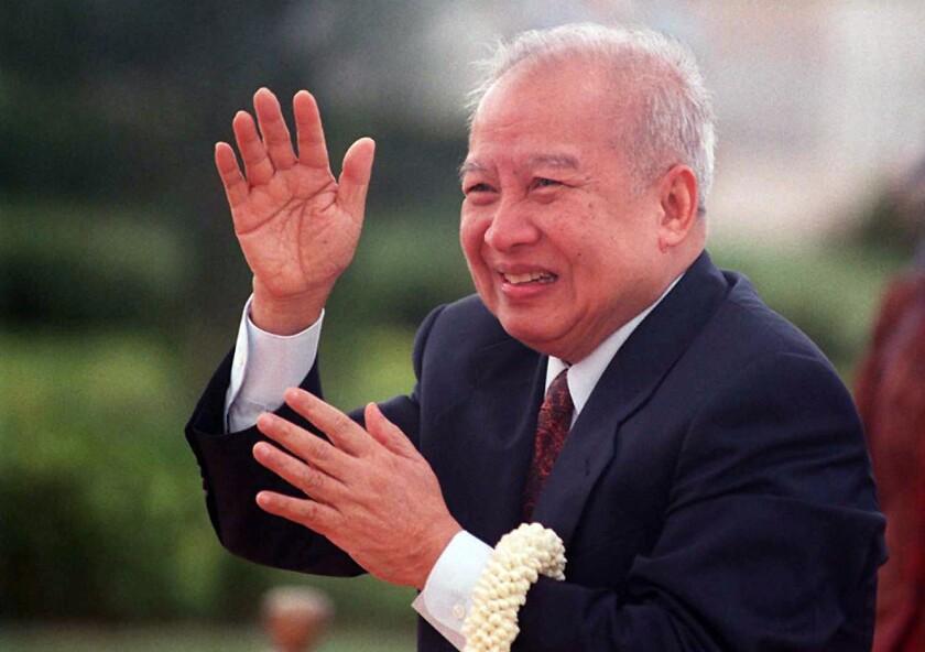 King Norodom Sihanouk of Cambodia in 1996.