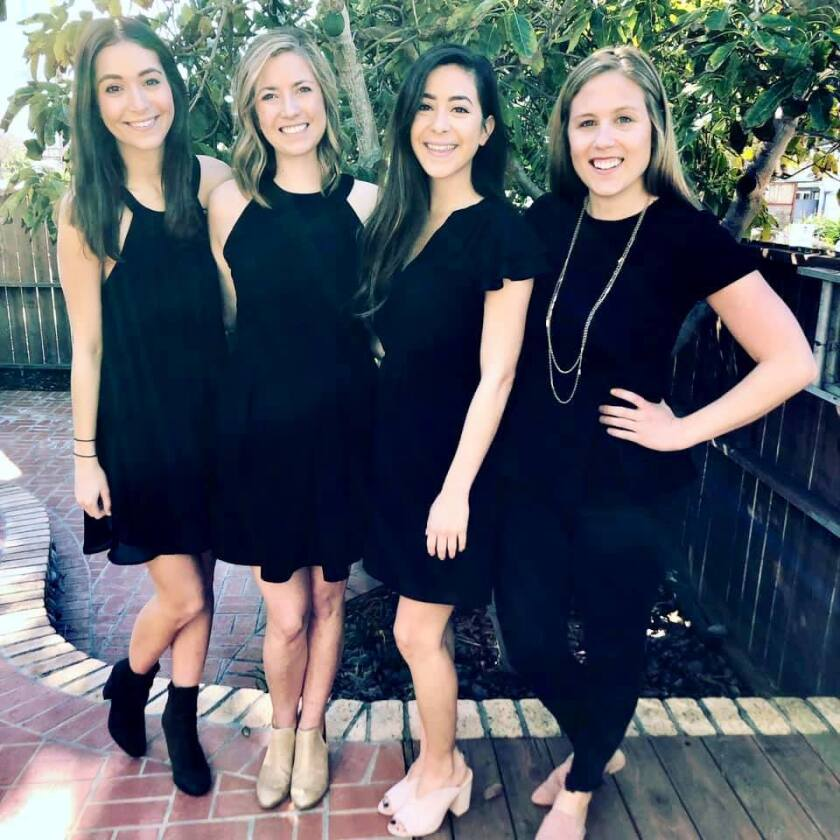 The Junior League of San Diego is running its fourth annual Little Black Dress Initiative, a social media driven fundraising campaign to raise awareness about women in poverty. The nonprofit league is collecting donations of new or gently used professional clothing or funds for the nonprofit's community partners' programs for homeless youth. Since 2018, the Junior League of San Diego has raised over $15,300 through the initiative and collected more than 55 bags of clothing. From left, Junior League of San Diego members Georgia Woodward, Sara Freund, Jenna Romo and Jessica Leeker. A North County donation drop off is at I-Orthodontics San Diego 14701 Via Bettona #205 in the Torrey Highlands/Fairbanks Ranch area. For more information, visit jlsd.org/lbdi.