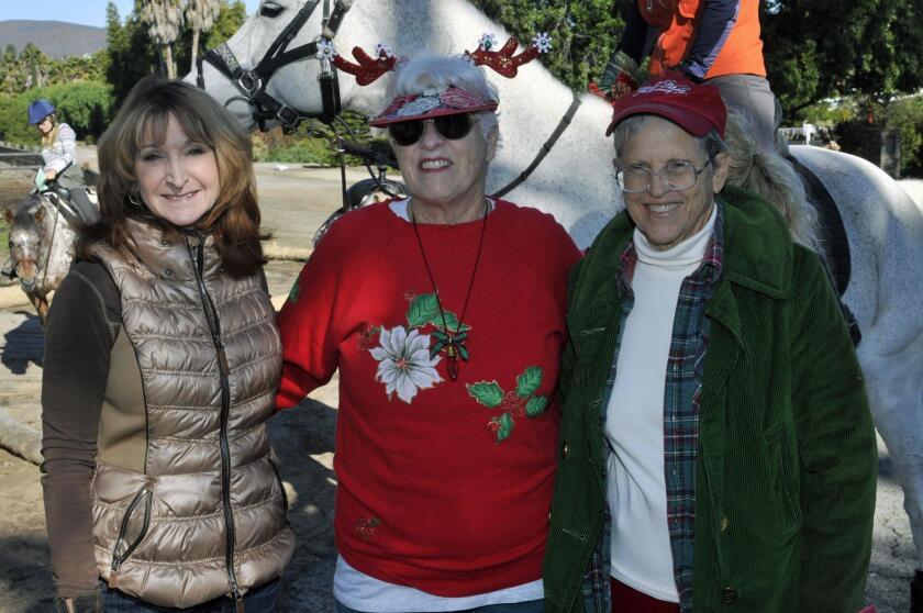 San Dieguito Riders board member/Treasurer Lynette Bowman, President Pam Snyder, Vice President Rosemary Neeb