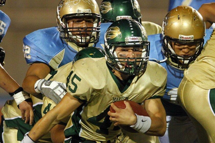 Mar Vista quarterback Jordan Lertique leads the Mariners' ground game.