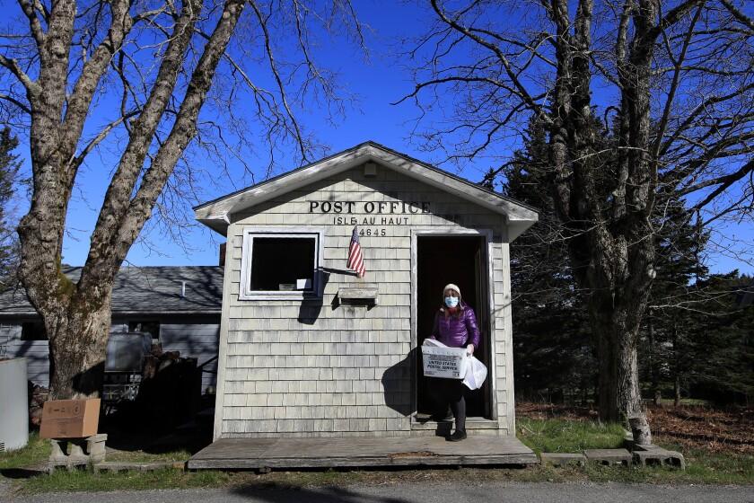 Post office on Isle Au Haut, Maine