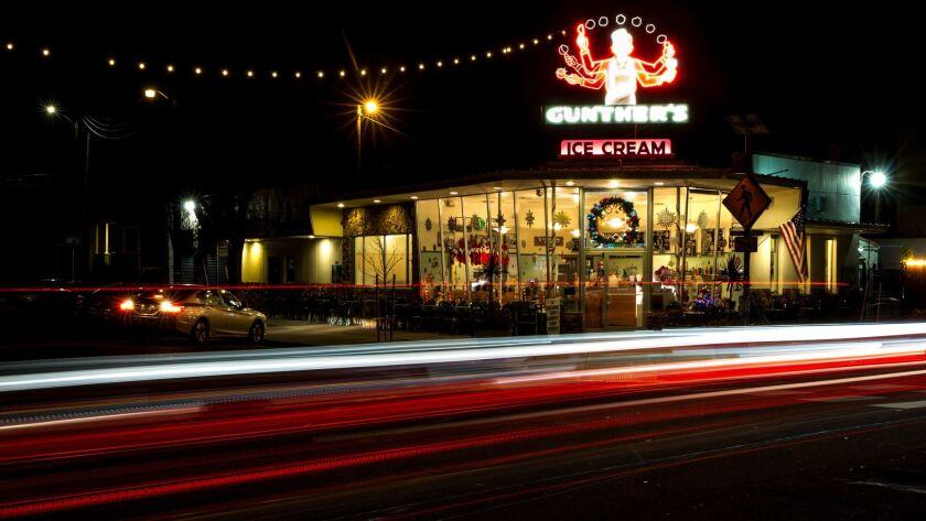"SACRAMENTO, CA - DECEMBER 18: Glazer's Ice Cream, featured in the film, ""Lady Bird,"" photographed on"