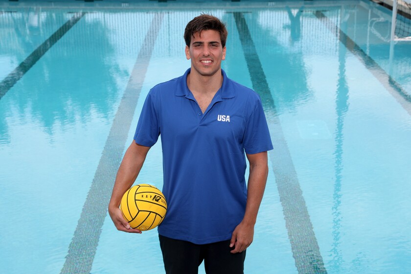 Luca Cupido, an attacker for the U.S. Olympic men's water polo team, is a graduate of Newport Harbor High School.