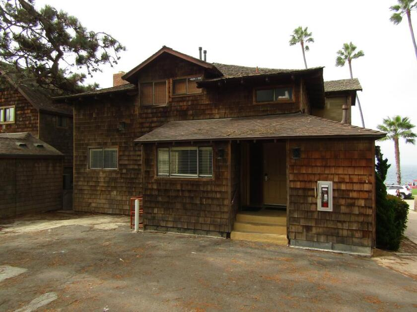 This building that is part of the Pantai Inn in La Jolla was deemed not historic by the San Diego Historical Resources Board.