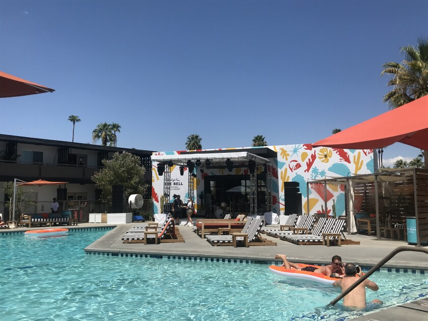 The pool at the Taco Bell hotel