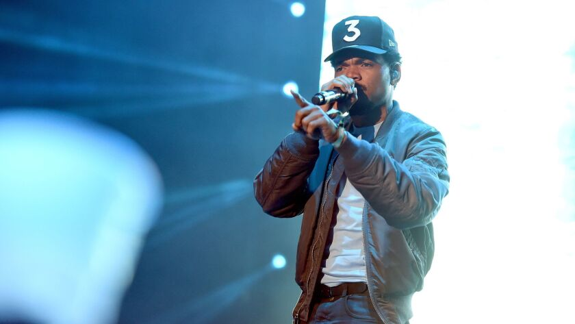 Chance the Rapper performs Saturday at Camp Flog Gnaw, the festival in Exposition Park in Los Angeles.