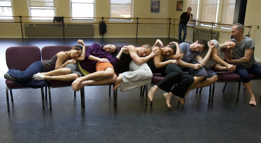 "Malashock Dance performers rehearse for their production of ""The Floating World."" Earnie Grafton • U-T"