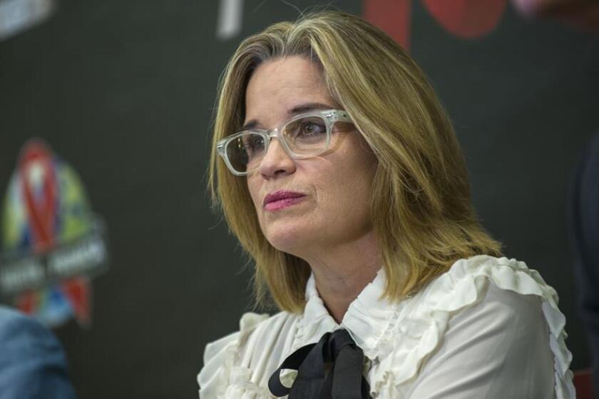 La alcaldesa de San Juan, Carmen Yulín Cruz, habla durante una rueda de prensa. EFE/Archivo