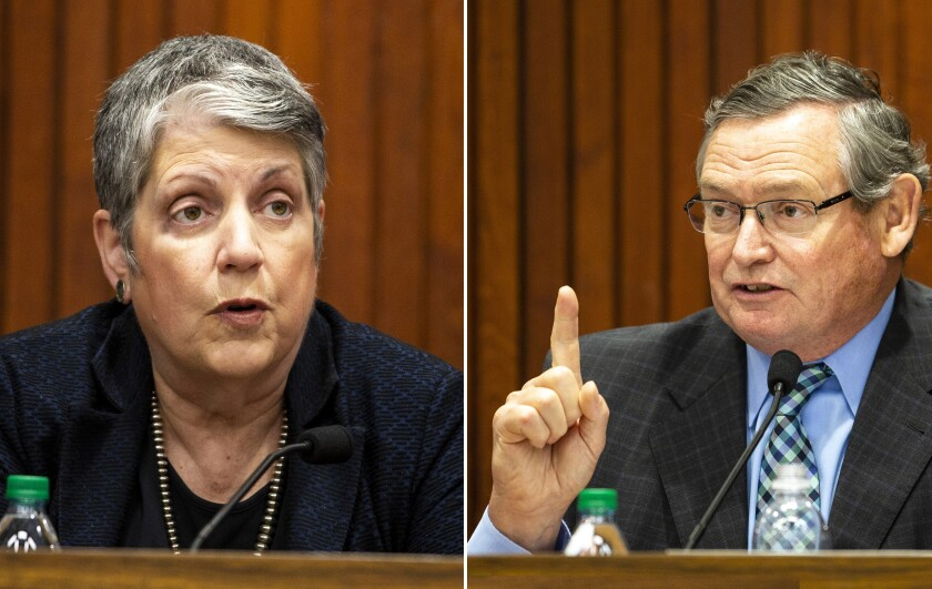 Janet Napolitano and Timothy P. White