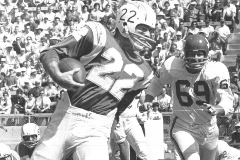 Keith Lincoln gained 329 yards from scrimmage in the 1963 AFL Championship Game at Balboa Stadium.